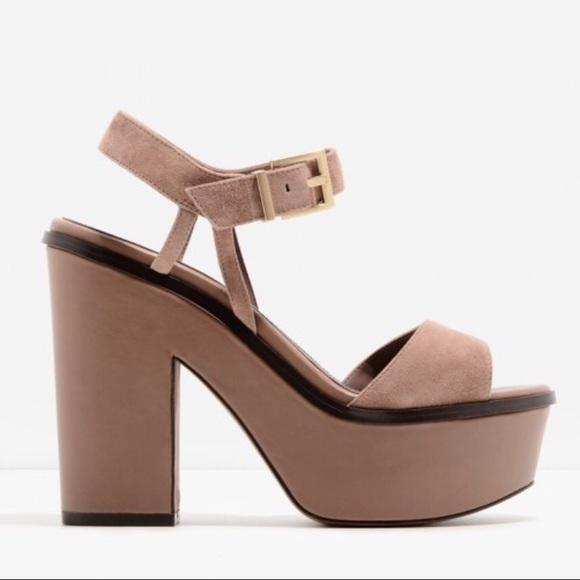 Shoes - Genuine Suede Platform Wedge Sandal BRAND NEW!